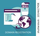 domain registration concept | Shutterstock .eps vector #1014617458