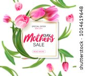 mother's day sale shopping... | Shutterstock .eps vector #1014619648