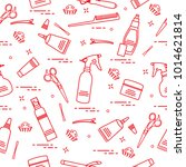 seamless pattern with... | Shutterstock .eps vector #1014621814
