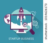 startup business concept | Shutterstock .eps vector #1014626173