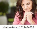 mature unhappy woman. | Shutterstock . vector #1014626353