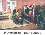 indian asian smart family... | Shutterstock . vector #1014628018