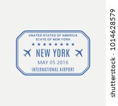 new york passport stamp. usa... | Shutterstock .eps vector #1014628579