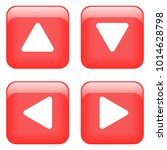 red button set isolated vector    Shutterstock .eps vector #1014628798