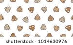 poo seamless pattern cartoon... | Shutterstock .eps vector #1014630976