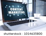 content marketing text on... | Shutterstock . vector #1014635800