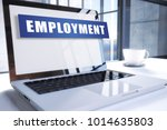employment text on modern... | Shutterstock . vector #1014635803