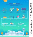 airport infographic travel... | Shutterstock .eps vector #1014636373