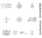 set of victorian ornaments | Shutterstock .eps vector #1014636580