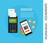 methods payment concept. pos... | Shutterstock .eps vector #1014640693