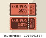 coupon discount vintage design... | Shutterstock .eps vector #1014641584
