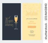 70 years anniversary invitation ...   Shutterstock .eps vector #1014643840