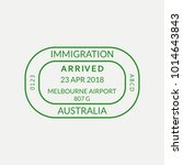 melbourne passport stamp.... | Shutterstock .eps vector #1014643843