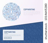 copywriting concept in circle... | Shutterstock .eps vector #1014645280