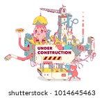 under construction web site...   Shutterstock .eps vector #1014645463