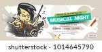 music party banner  flyer ... | Shutterstock .eps vector #1014645790