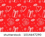 valentine seamless pattern...   Shutterstock .eps vector #1014647290