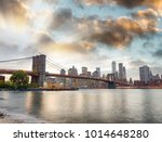 manhattan skyline and brooklyn... | Shutterstock . vector #1014648280
