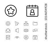 internet icons set with date...