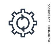 process icon. isolated cogwheel ...
