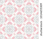 ethnic floral seamless pattern... | Shutterstock .eps vector #1014655309
