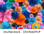 colorful circle shape paper ... | Shutterstock . vector #1014666919