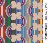 rainbow seamless pattern.... | Shutterstock . vector #1014672190