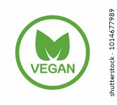 vegan icon. vector | Shutterstock .eps vector #1014677989