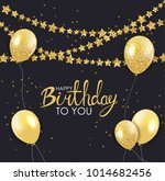 abstract happy birthday... | Shutterstock . vector #1014682456