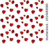 naturalistic rose petals on... | Shutterstock . vector #1014683080