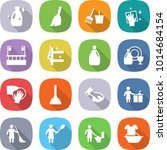 flat vector icon set   cleanser ... | Shutterstock .eps vector #1014684154