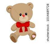 cute little teddy bear boy ... | Shutterstock .eps vector #1014689728