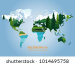 world map graphic on white... | Shutterstock .eps vector #1014695758