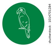 amazon parrot icon in thin line ... | Shutterstock .eps vector #1014701284