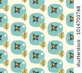 mid century modern seamless... | Shutterstock .eps vector #1014703768