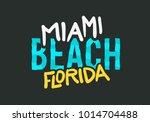 miami beach florida summer... | Shutterstock .eps vector #1014704488