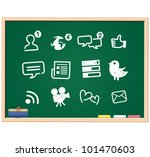 social media icons drawing... | Shutterstock .eps vector #101470603