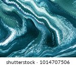 abstract emerald waves pattern. ... | Shutterstock . vector #1014707506