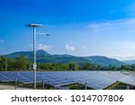 solar power station with... | Shutterstock . vector #1014707806