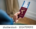 a man preparing to travel | Shutterstock . vector #1014709093