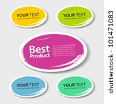 colorful label paper best... | Shutterstock .eps vector #101471083