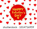 happy valentines day gold text... | Shutterstock .eps vector #1014716959