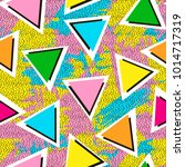 colorful seamless pattern from... | Shutterstock .eps vector #1014717319