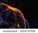 abstract connected bright dots... | Shutterstock . vector #1014717958
