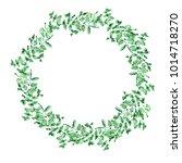 green eucalypt garland isolated ... | Shutterstock . vector #1014718270