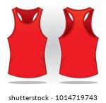 red classic tank top vector | Shutterstock .eps vector #1014719743