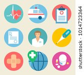 medical icon set. health care ... | Shutterstock .eps vector #1014723364