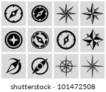 compasses icons set. | Shutterstock .eps vector #101472508
