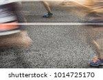 people running in marathon on... | Shutterstock . vector #1014725170