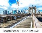 brooklyn bridge  skyline new...   Shutterstock . vector #1014725860